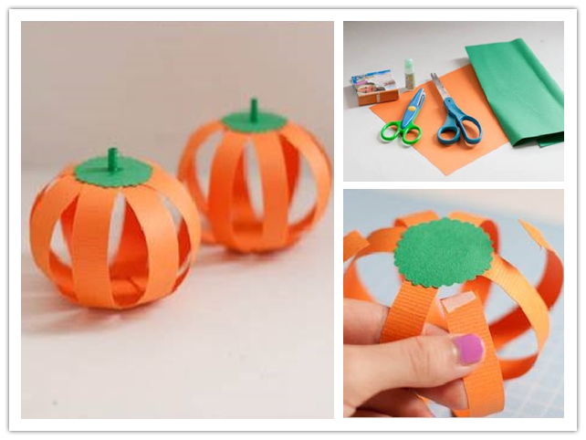 How to make Paper Halloween Pumpkin step by step DIY ...