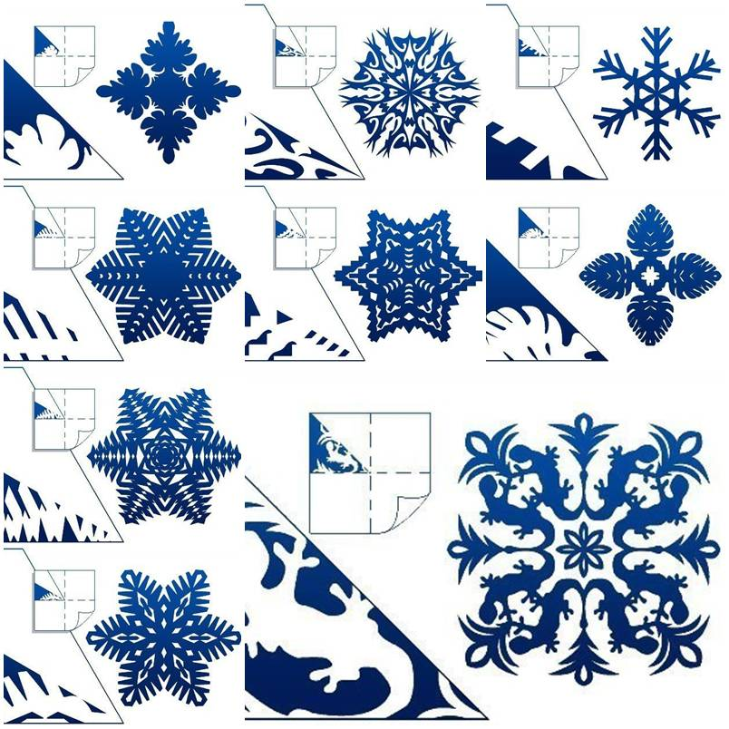 snowflakes paper You remember creating paper snowflakes in grade school, right folding paper over and over, then cutting out little designs to create one-of-a-kind flakes.