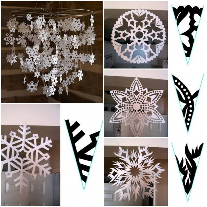 How to make snowflake paper pattern step by step diy for Diy paper snowflakes 3d