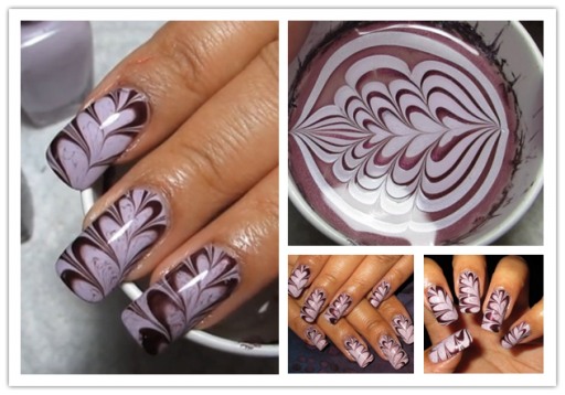 How to make valentines heart water marble nail art how to how to make valentines heart water marble nail art step by step diy tutorial instructions prinsesfo Gallery