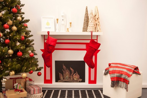 How to make a fireplace with washi tape step by step DIY tutorial instructions