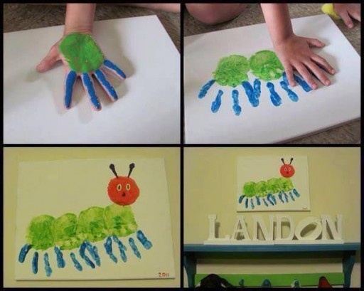 How to make a hand painting bug art decoration