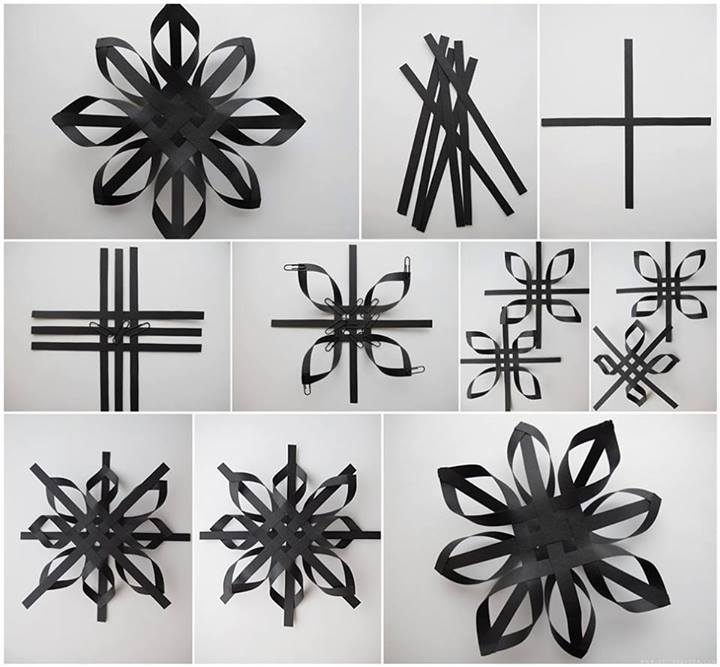 How To Make Beautiful Black Decoration Stars Step By DIY Tutorial Instructions