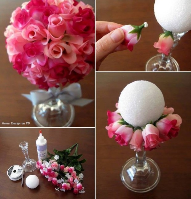 How To Make Beautiful Paper Rose Flower Ball Bouquet Step By