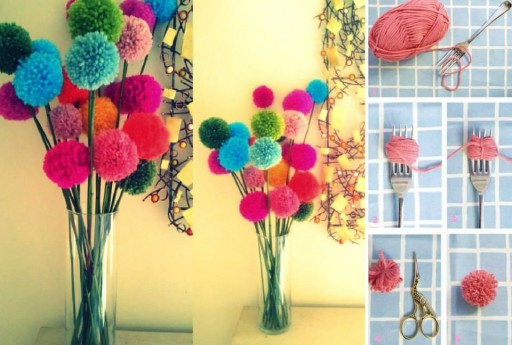 How to make beautiful pompom decorations step by step DIY tutorial instructions