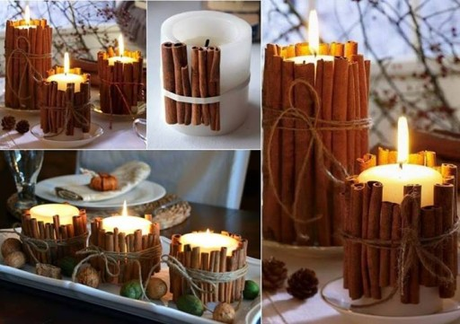 How to make cinnamon stick candles step by step DIY tutorial instructions