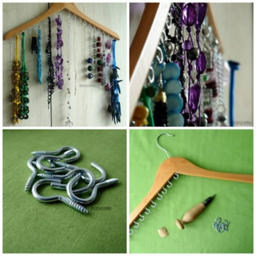 How to make cool jewelry hanger step by step DIY tutorial instructions