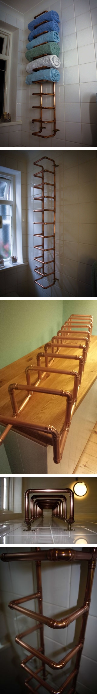 How to make copper pipe towel rail for bathroom step by step DIY tutorial instructions