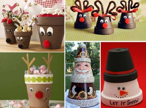 How to make cute and craft reindeer pots step by step DIY tutorial instructions