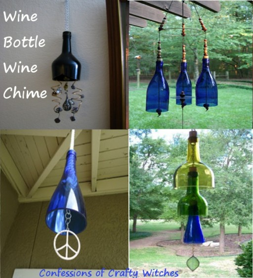 How to make cute wind chimes with wine bottles step by step DIY tutorial instructions