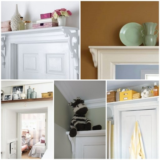 How to make doorway storage shelf step by step DIY tutorial instructions thumb