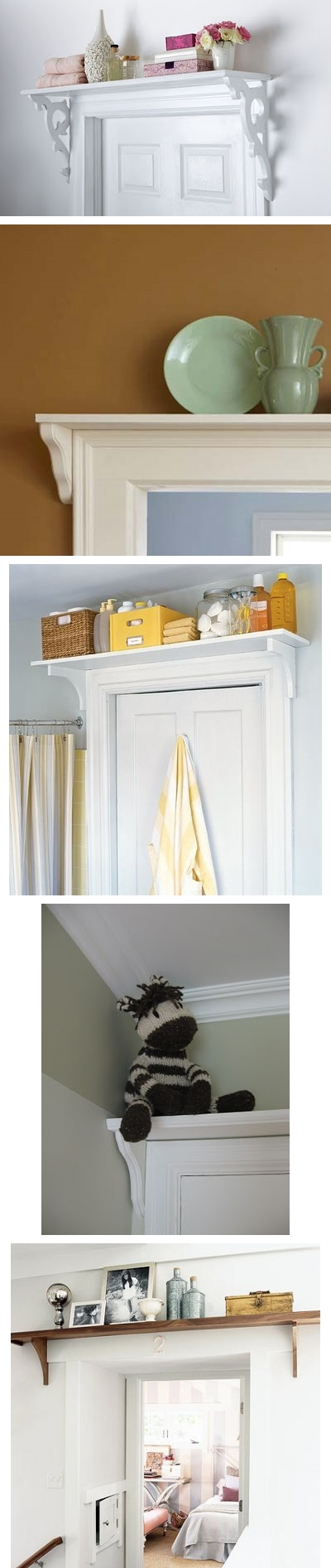 How to make doorway storage shelf step by step DIY tutorial instructions
