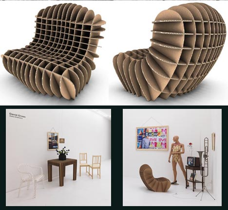 How to make eco friendly cardboard chairs step by step diy for Chair design diy