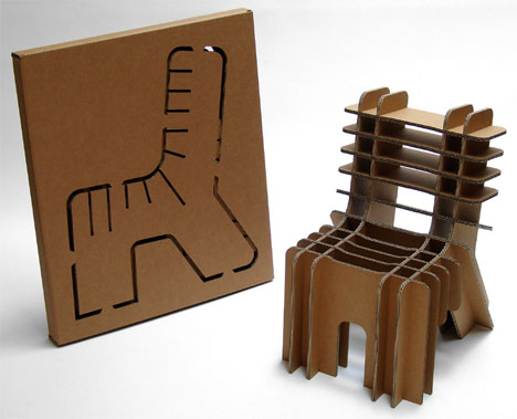 How to make eco-friendly cardboard chairs step by step DIY tutorial instructions