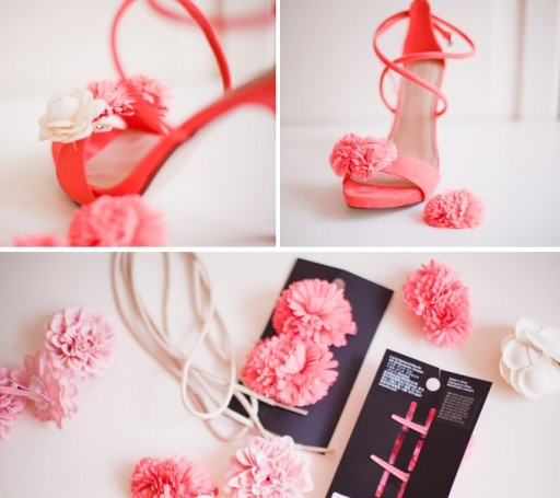 How to make fabulous floral shoe heels step by step DIY tutorial instructions