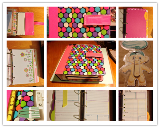 How to make faux filofax planner step by step DIY tutorial instructions