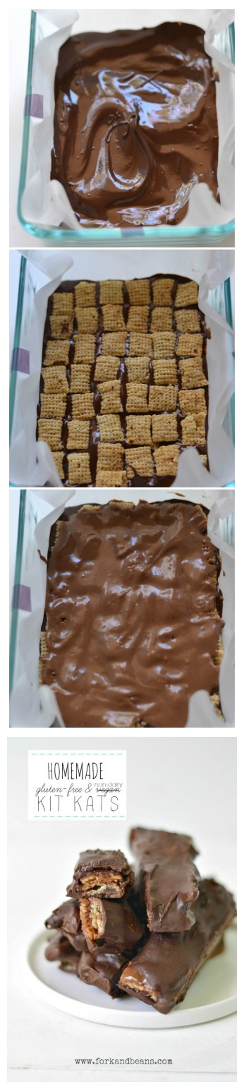 How to make gluten free & non-diary kit kat step by step DIY tutorial instructions