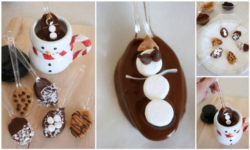 How to make hot chocolate spoon for dipping pleasure step by step DIY tutorial instructions