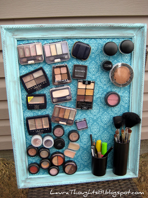 How to make magnetic storage board for makeup items step by step DIY tutorial instructions