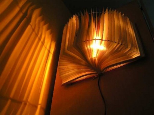 How to make modern lighting fixtures with recycled books step by step DIY tutorial instructions