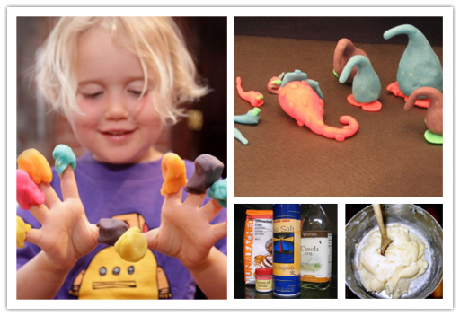 How to make non-toxic play dough for kids step by step DIY tutorial instructions