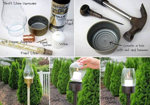 How to make outdoor candle lantern step by step DIY tutorial instructions