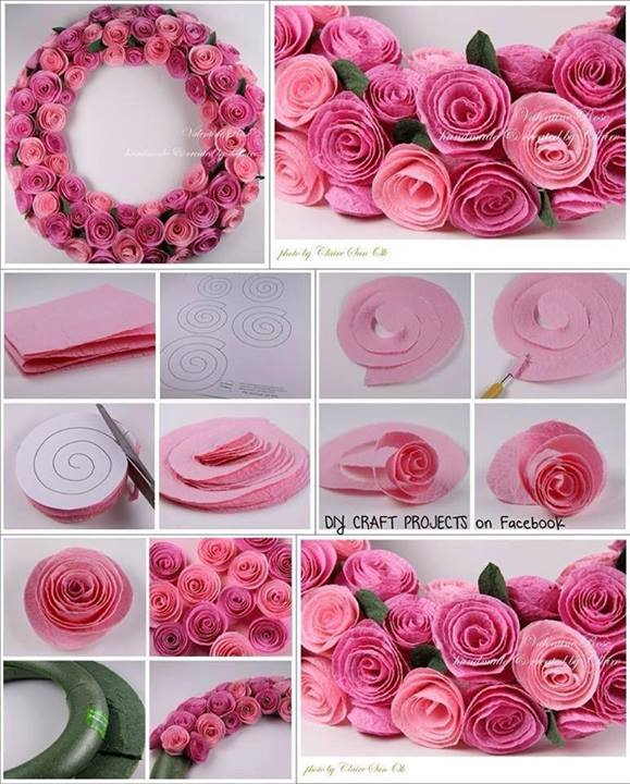 How To Make Pretty Rose Wreath Step By Step DIY Tutorial