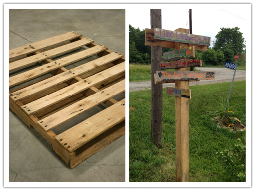How to make sign post with used pallet step by step DIY tutorial instructions