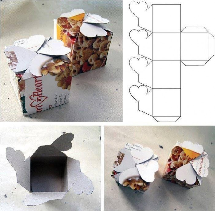 How to make simple cardboard gift packaging boxes step by step DIY tutorial instructions