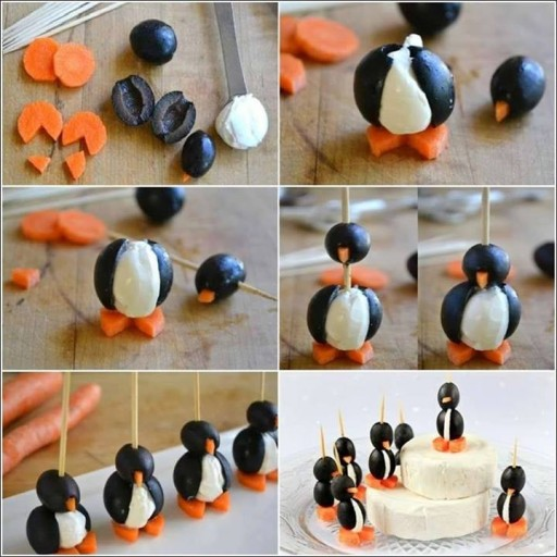 ... penguin Christmas snack treats step by step DIY tutorial instructions