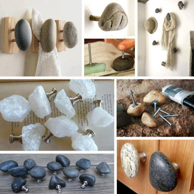 How to make unique rock cabinet knobs for kitchen - Diy kitchen cabinet knobs ...