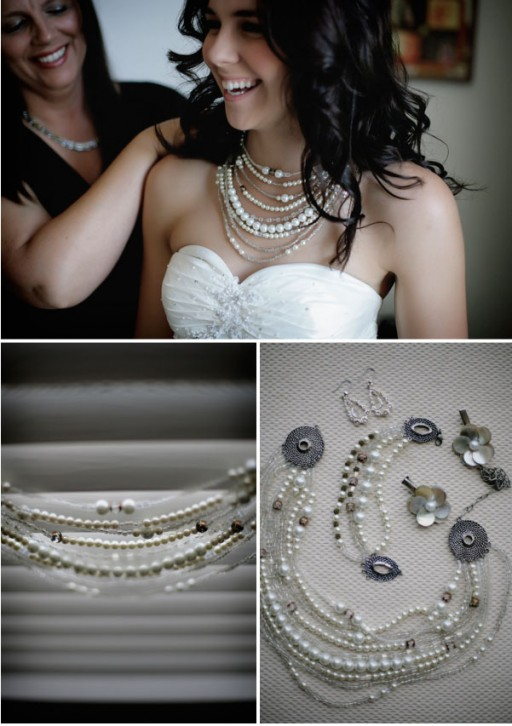 How to make your own custom designed pearl necklace step by step DIY tutorial instructions