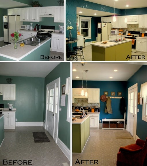 How to paint beautiful kitchen wall step by step DIY tutorial instructions