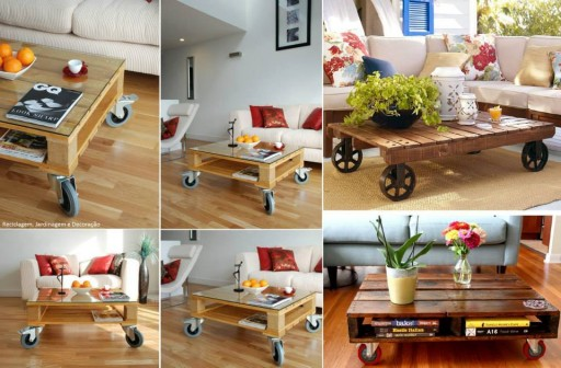 How to re-purpose pallets into coffee table