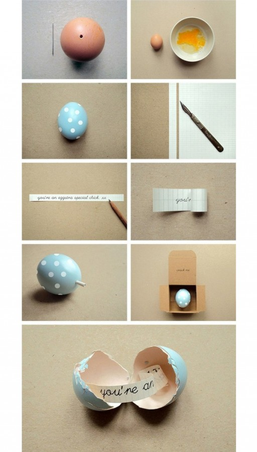 How to send a cute message in an egg step by step DIY tutorial instructions
