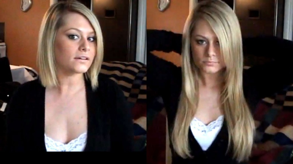 How to clip hair extensions in short hair step by step DIY tutorial instructions