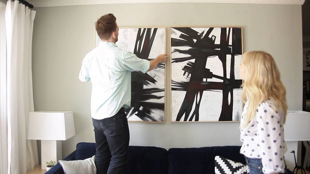 How to create a artistic focal gallery wall in your room step by step DIY tutorial instructions
