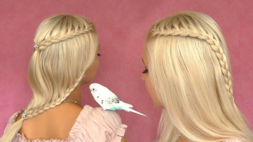 How to do Angel fairy princess French lace braid hair style for medium short hairs step by step DIY tutorial instructions