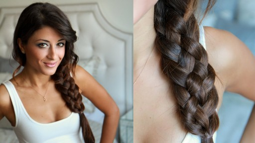 How to do five strand braid hairstyles for medium long hairs step by step DIY tutorial instructions