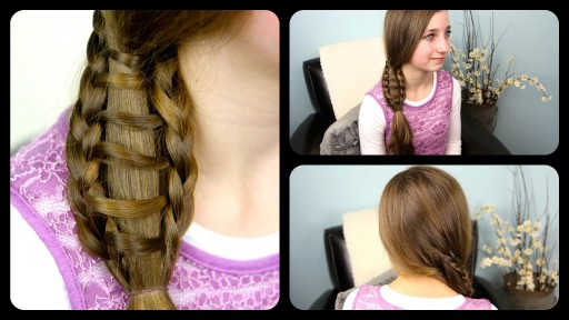 How to do ladder braid side ponytail hair style for medium to long hairs step by step DIY tutorial instructions