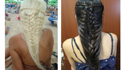 How to do mermaid French braid hairstyles for medium long hairs step by step DIY tutorial instructions