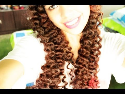 how to do no heat spiral straw curls hairstyles for medium