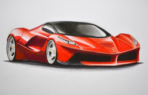 How to Draw a Ferrari With Colors – How to Draw a Car step by step DIY tutorial instructions