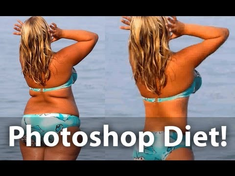 How to lose weight in photoshop step by step DIY tutorial instructions