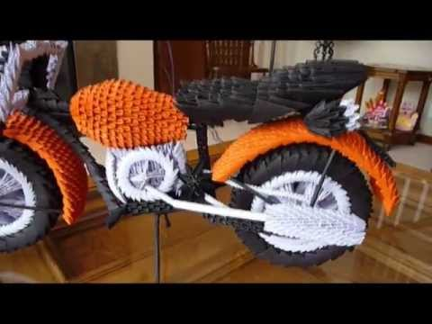 How to make 3D origami motorcycle