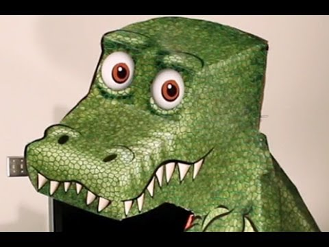 How to make cool T-Rex illusion step by step DIY tutorial instructions