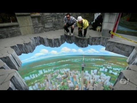 How to make inspirational 3D street art painting from professional artisit Tracy Lee Stum