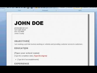 How To Write A Professional Resume Step By Step DIY Instructions