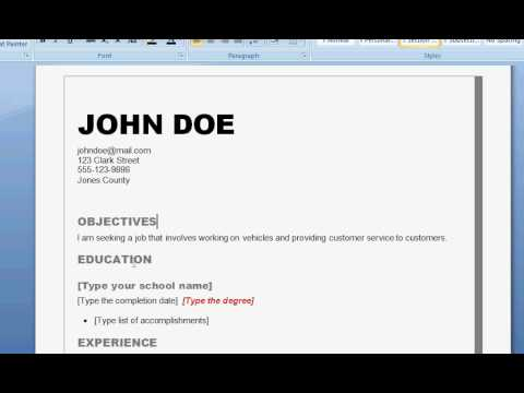How To Write A Professional Resume Step By Step Diy