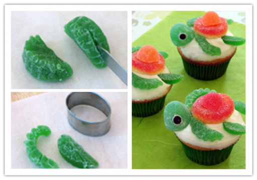 Cake decorating class - How to make DIY squirt happy turtle cupcakes step by step tutorial instructions